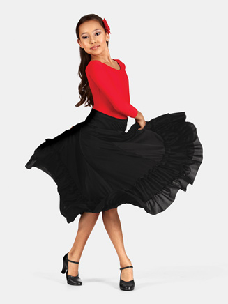 Girls Flamenco Skirt - Style No 9100C