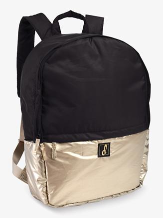 Black Contrast Metallic Puffer Dance Backpack - Style No B466BK