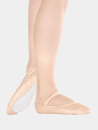 Girls Full Sole Leather Ballet Slipper - Style No BA90C