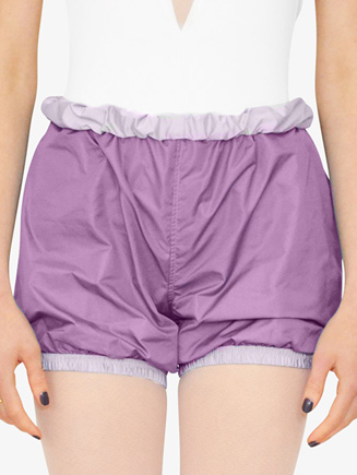 Womens Reversible Parachute Warm Up Shorts - Style No BP13501