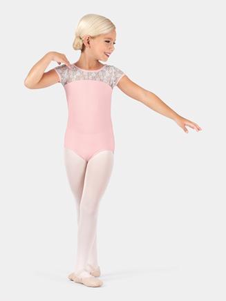 Child Lace Short Sleeve Leotard - Style No BT5070C