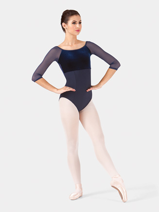 Adult Velvet 3/4 Sleeve Leotard - Style No BT5082