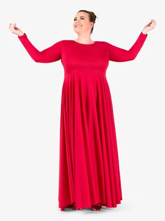 Womens Flowy Plus Size Worship Dress - Style No BT5190P