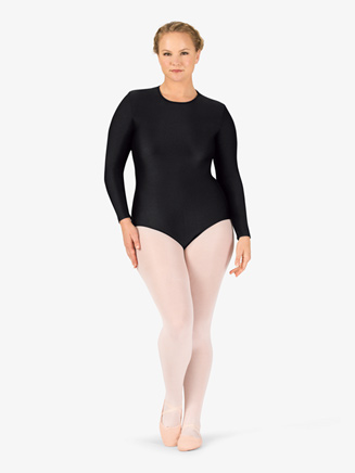 Womens Boatneck Long Sleeve Plus Size Leotard - Style No BT5193P