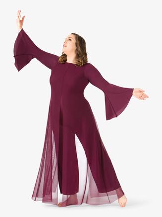 Womens Mesh Plus Size Worship Jumpsuit - Style No BT5194P