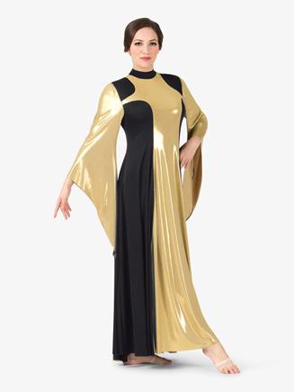 Womens Plus Size Metallic Worship Dress - Style No BT5197Px