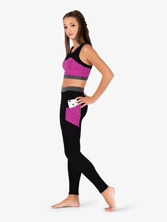 Womens Team Contrast Compression Leggings - Style No BT5218