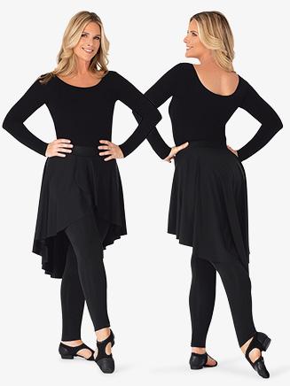 Womens Asymmetrical Faux Skirt Dance Leggings - Style No BT5232