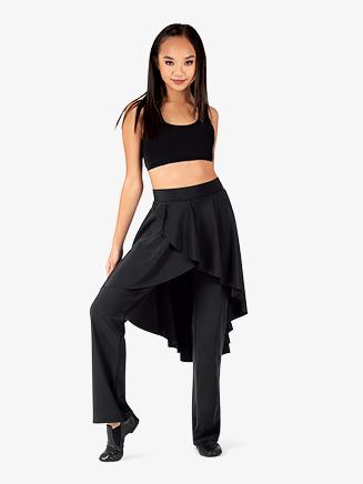 Womens Plus Size Faux Skirt Bootcut Dance Pants - Style No BT5233P