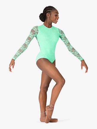 Womens Lace Long Sleeve Leotard - Style No BT5250