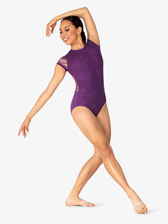 Womens Lace Short Sleeve Leotard - Style No BT5251