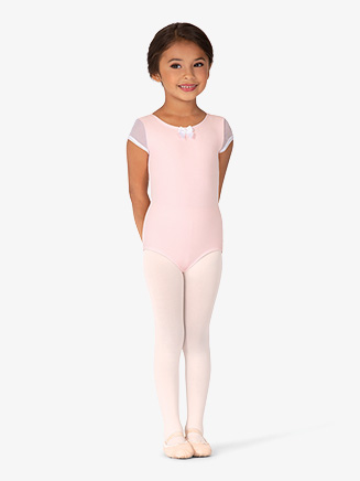 Girls Bow Detail Cap Sleeve Leotard - Style No BT5284C