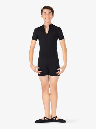 Boys Colorblock Dance Short Sleeve Shorty Unitard - Style No BT5304Cx