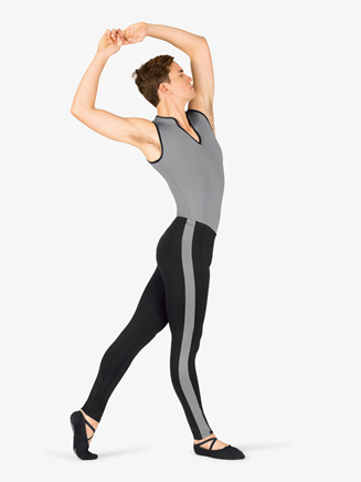 Mens Contrast Stripe Dance Leggings - Style No BT5307