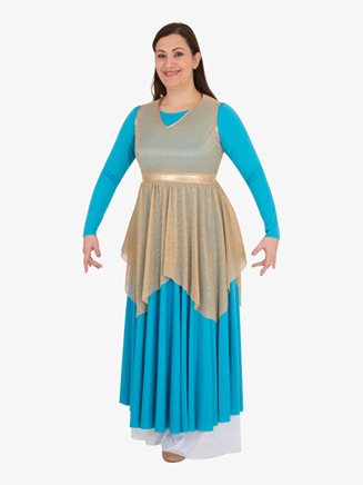 Kids Plus Worship Pleated Metallic Tunic - Style No BW0682