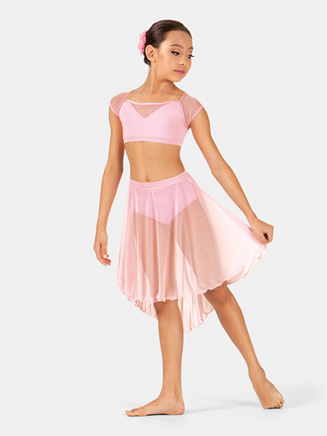 Girls Bow-Back Cap Sleeve Crop Top - Style No BW1008C