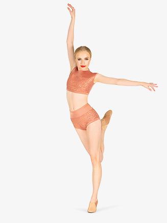 Womens Performance Sequin High Waist Briefs - Style No BW8021