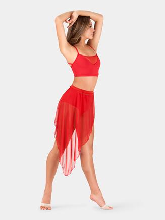 Adult Asymmetrical Faux Wrap Skirt - Style No BW9106