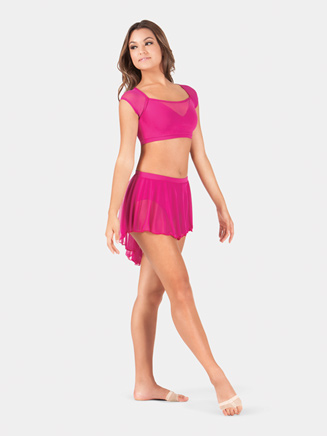 Adult High-Low Pull-On Skirt - Style No BW9108