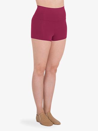 Womens Wide Waistband Boy-Cut Dance Shorts - Style No BWP284