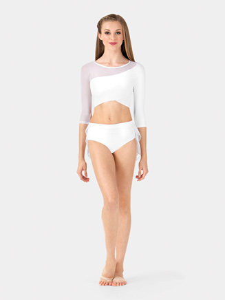 Adult Mesh 3/4 Sleeve Performance Crop Top - Style No BWP9026