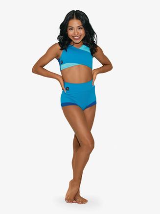 Womens Three-Tone Dance Bra Top - Style No CH3344