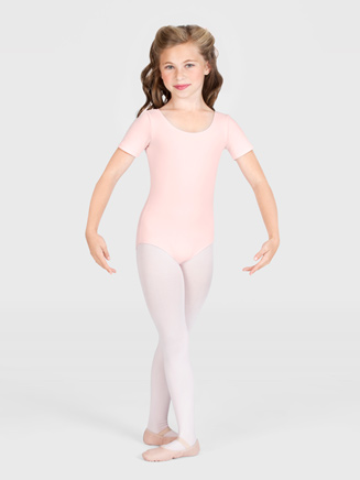 Girls Short Sleeve Leotard - Style No CL5402