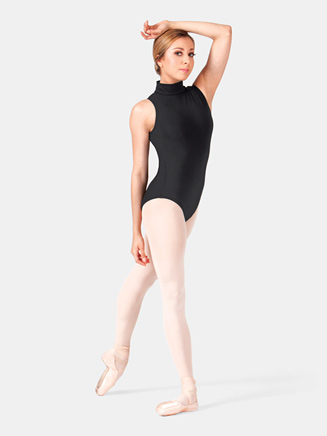 Adult Mock Neck Cotton Tank Leotard - Style No CL8709
