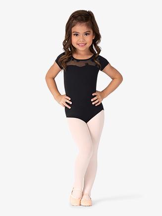"Girls ""Antheia"" Back Cutout Short Sleeve Leotard - Style No CL8752"