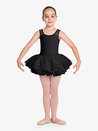 "Girls ""Aiko"" Flower Mesh Tank Ballet Tutu Dress - Style No CL8785"