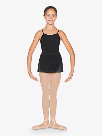 Girls Floral Print Mesh Pull-On Ballet Skirt - Style No CR9931