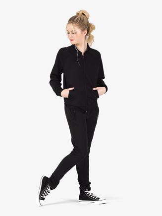 Womens Team Full Zipper Long Sleeve Jacket - Style No D3044