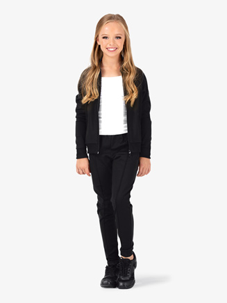 Girls Team Full Zipper Long Sleeve Jacket - Style No D3044C