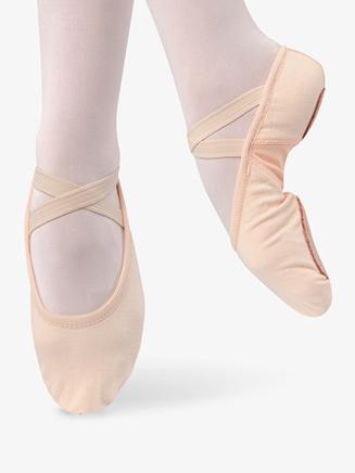Child Stretch Canvas Split Sole Ballet Shoes - Style No D496