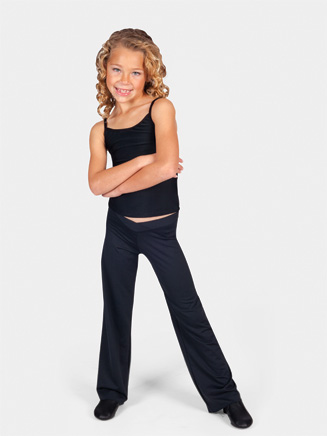 Child Nylon V-Front Jazz Pant - Style No D5107C