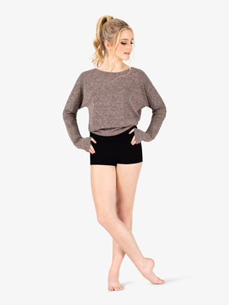 Womens Batwing Long Sleeve Warm Up Bodysuit - Style No DS5287