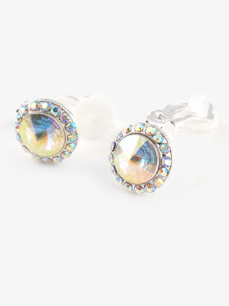 Iridescent Stone 18mm Clip Earring - Style No EC12AI