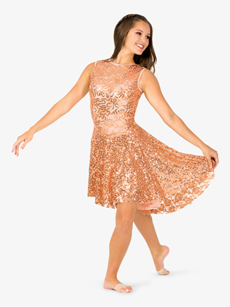 Womens Sequin High-Low Performance Tank Dress - Style No EL104x