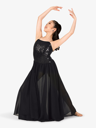 Girls Performance Sequin Camisole Dress - Style No EL113C