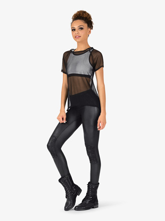 Womens Mesh Top 3-Piece Hip Hop Set - Style No EL127