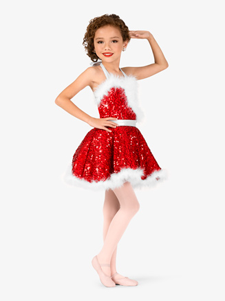 Girls Sequin Holiday Dress - Style No EL134C
