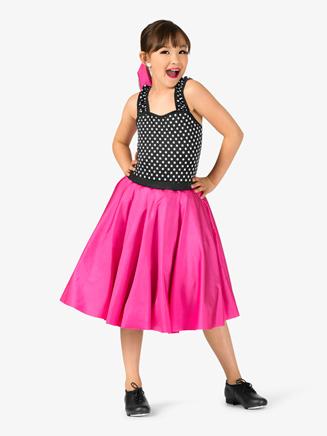 Girls Vintage Three-Tone Dance Costume Dress - Style No EL135C