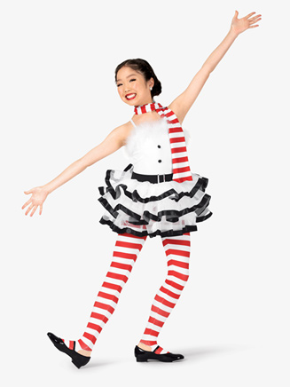 "Girls ""Frosty"" Striped Character Dance Costume Set - Style No EL141C"