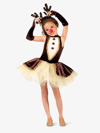 "Girls ""Reindeer Games"" Character Dance Costume Set - Style No EL142C"