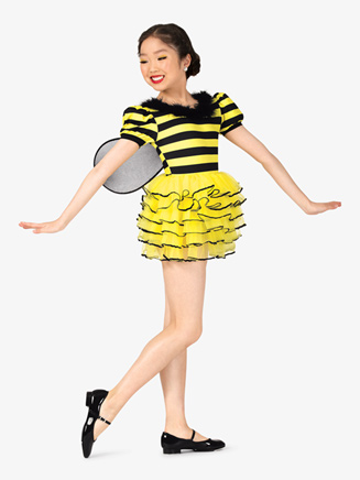 "Girls ""Bumble Bee"" Short Sleeve Character Costume Dress - Style No EL144C"