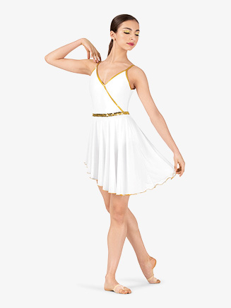 Womens Dance Costume Grecian Asymmetrical Dress - Style No EL152