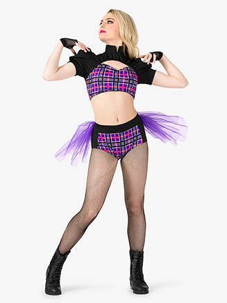 Womens 2-Piece Dance Costume Top & Brief Set - Style No EL161