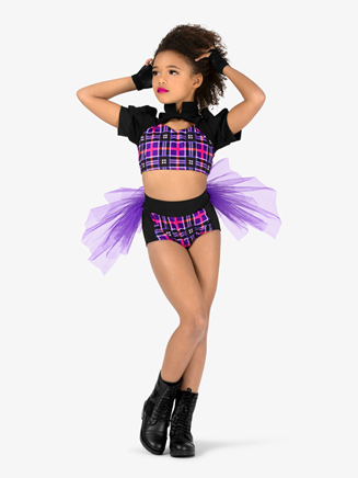 Girls 2-Piece Dance Costume Top & Brief Set - Style No EL161C