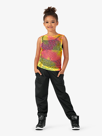 "Girls Performance ""Groupie"" Oversized Reversible Tank Top - Style No EL183C"