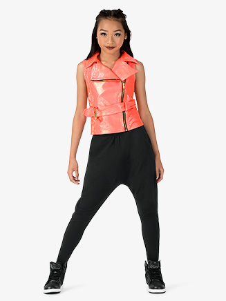 "Girls Performance ""Blaze"" Metallic Vest - Style No EL190C"